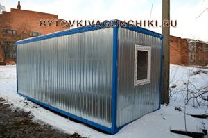 Базовый вариант - отделка стен оцинкованный профлист