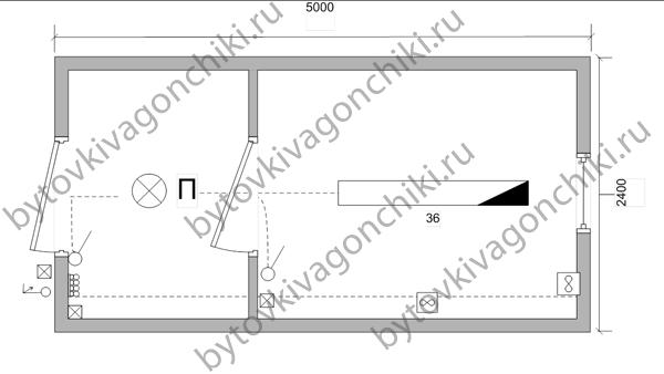 Схема электрики БК-5*2,4*2,5 с тамбуром