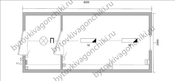 Схема электрики БК-6*2,4*2,5 с тамбуром