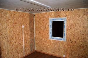 Отделка стен плиты OSB (ОСБ, ОСП) + электрика, линолеум